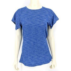 Lululemon &go Take-Off Tee Heathered Sapphire Blue